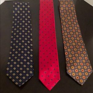 Lot of 3 Tommy Hilfiger silk ties
